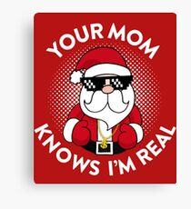 Your Mom Knows I'm Real Canvas Print