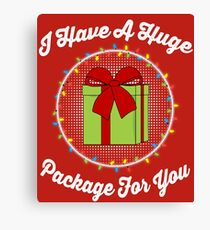 I Have A Huge Package For You Canvas Print