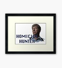 Geometric Joe Kenda - Homicide Hunter Framed Print