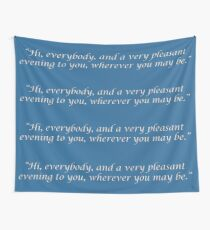 Vin Scully Tribute Wall Tapestry