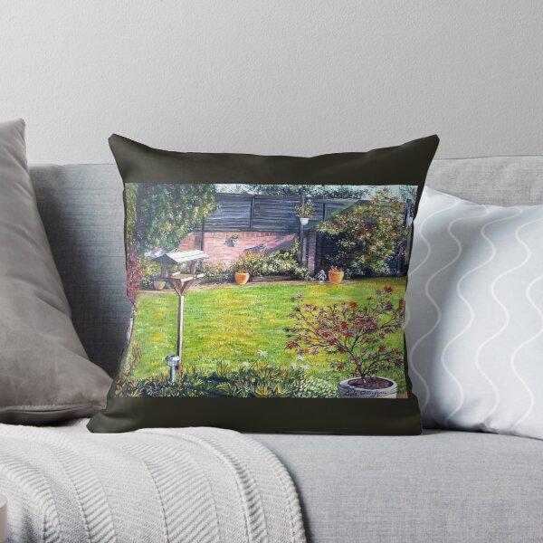 A Welsh Garden Throw Pillow