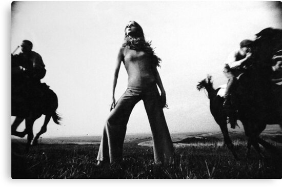 Biba Outfit Photographed On The Sussex Downs by John Hooton