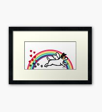 Tricolor Jack Russell Terrier Angel Rainbow Framed Print