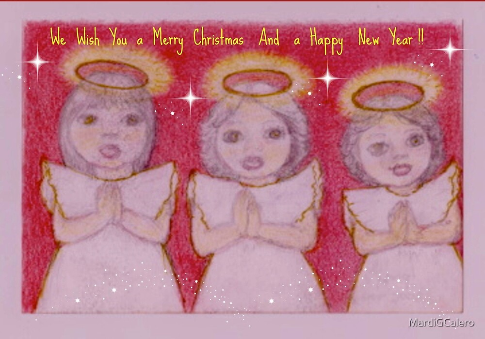 Three Xmas Angels  by MardiGCalero