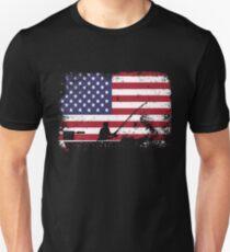 american flag fishing - usa fishing Unisex T-Shirt