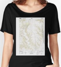 USGS TOPO Map Illinois IL Snyder 20120809 TM Women's Relaxed Fit T-Shirt