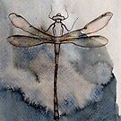 Dragonfly in blue by Alison Rasmussen