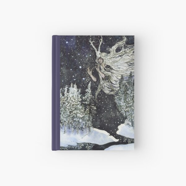 winter witch Hardcover Journal