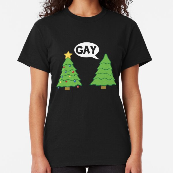 Gay Christmas Tree Funny Xmas Holiday Classic T-Shirt