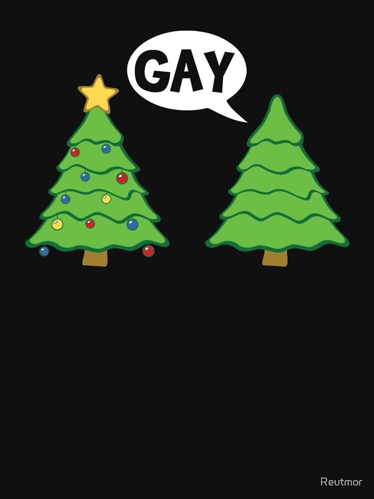 Gay Christmas Tree Funny Xmas Holiday by Reutmor