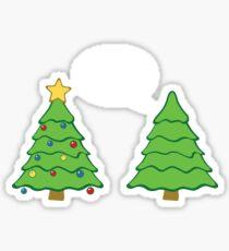 Gay Christmas Tree Funny Xmas Holiday Sticker