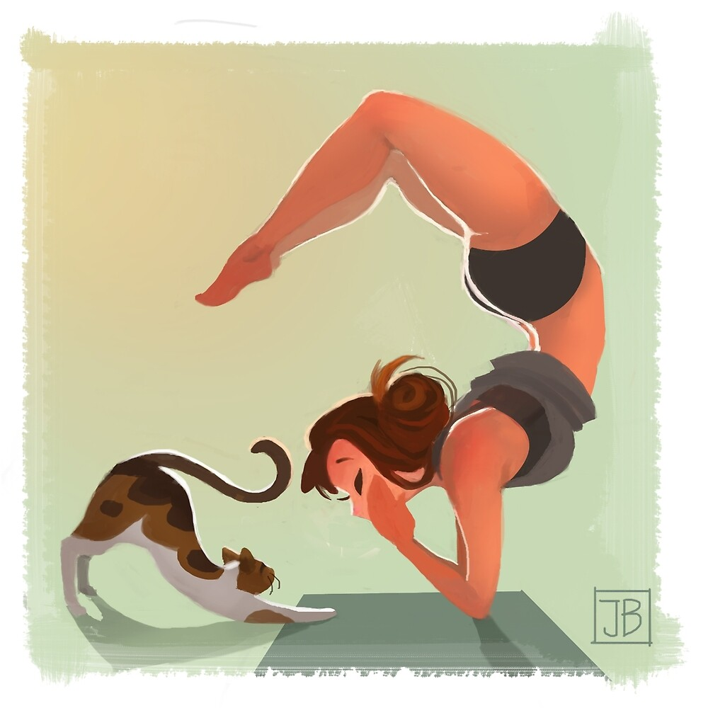 Quot Yoga Time Quot By Julia Blattman Redbubble