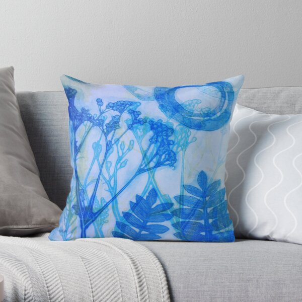 Cow parsley Throw Pillow