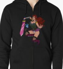 Lusty Attack - Full colour Zipped Hoodie