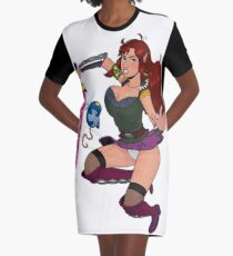 Lusty Attack - Full colour Graphic T-Shirt Dress