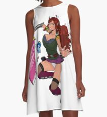 Lusty Attack - Full colour A-Line Dress