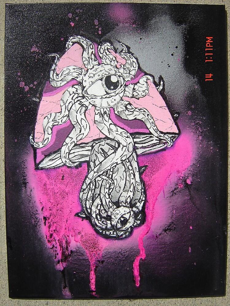 9x12 Shuma Gorath shroom by JeRMsDetail
