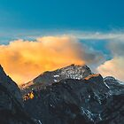 Last light on mountains before sunset by Patrik Lovrin