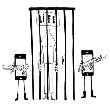 Cellphone Jail Life by bilet