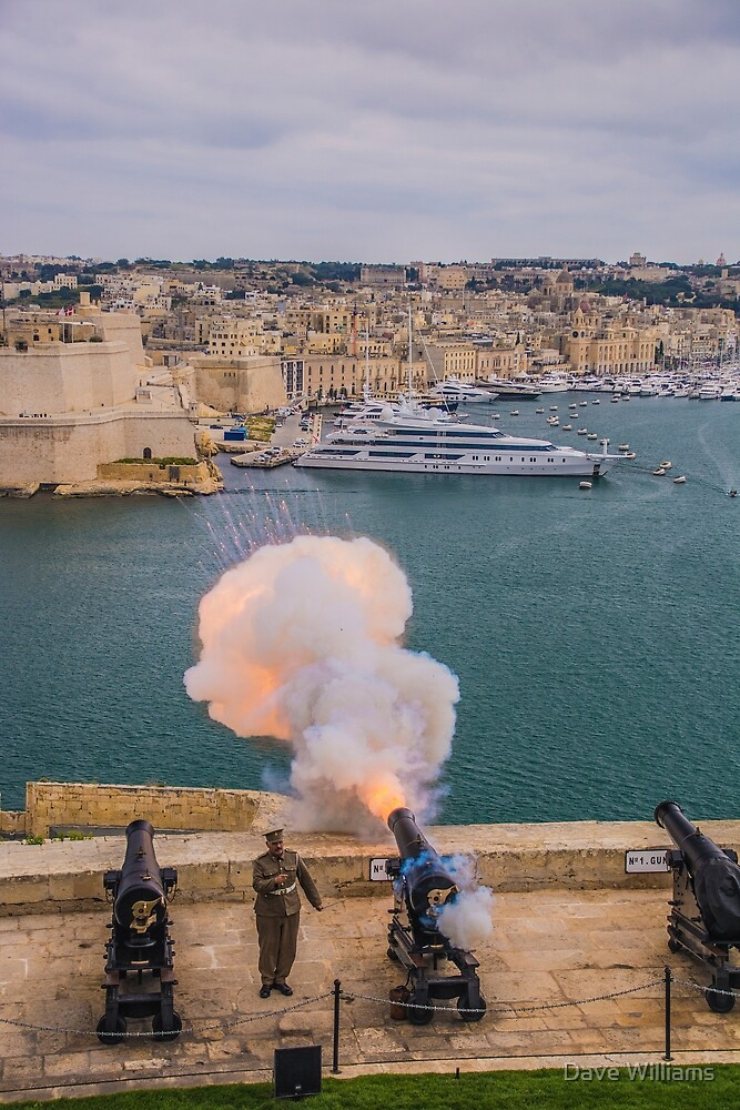 Cannon Fire, Valletta, Malta by Dave Williams