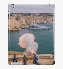 Cannon Fire, Valletta, Malta iPad Case/Skin