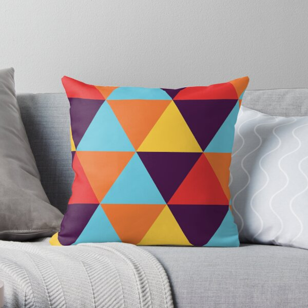 Multi-Coloured Hexagons #1 Throw Pillow