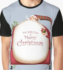 Fat Santa with Christmas Ornaments Graphic T-Shirt