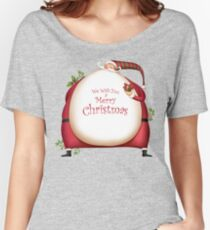 Fat Santa with Christmas Ornaments Women's Relaxed Fit T-Shirt