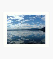 Lake Mirror Art Print