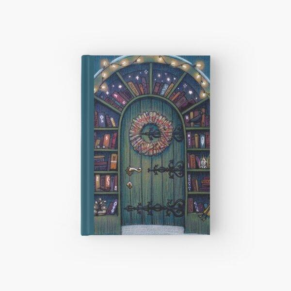 Magic World of Books Door Hardcover Journal