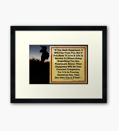 Happiness Your Companion Framed Print