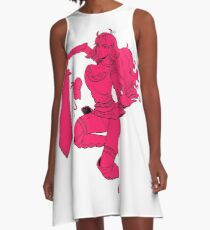 Lusty Attack - One colour A-Line Dress