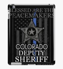 Colorado Sheriff Deputy Prayer Sheriff Deputy Gifts iPad Case/Skin
