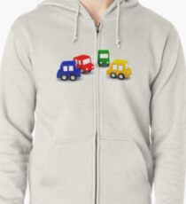 little cars - cartoon cars - colorful cars - little cars Zipped Hoodie