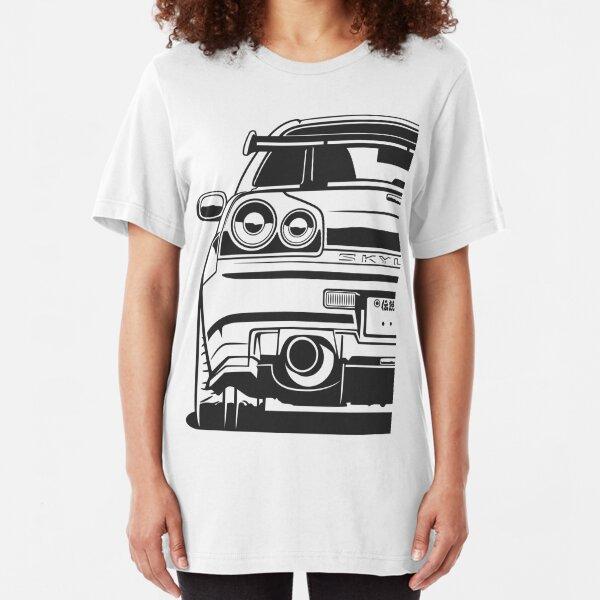 Skyline R34 GTR Camiseta ajustada