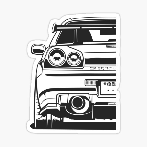 Skyline R34 GTR Sticker