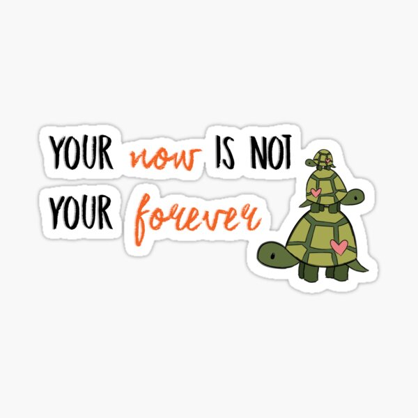 Turtles All The Way Down - Now is not your forever Sticker