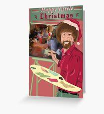 Bob Ross Christmas Greeting Card