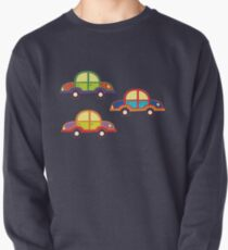 little cars - cartoon cars - colorful cars - little cars Pullover