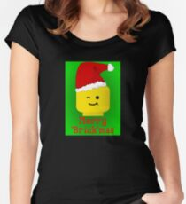 Merry Christmas Santa Minifig by Customize My Minifig Women's Fitted Scoop T-Shirt