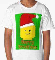 Merry Christmas Santa Minifig by Customize My Minifig Long T-Shirt