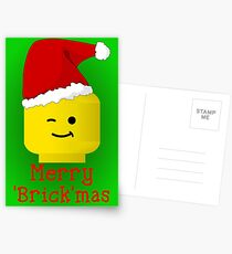 Merry Christmas Santa Minifig by Customize My Minifig Postcards