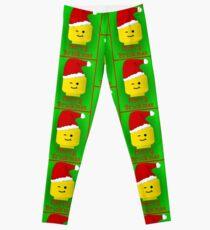 Merry Christmas Santa Minifig by Customize My Minifig Leggings