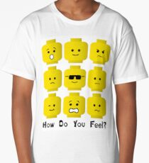 'How Do You Feel?' by Customize My Minifig  Long T-Shirt