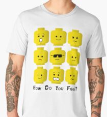 'How Do You Feel?' by Customize My Minifig  Men's Premium T-Shirt