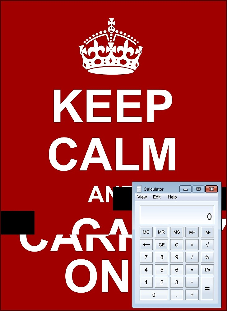 Keep calm and.. Calc! by Ange Albertini