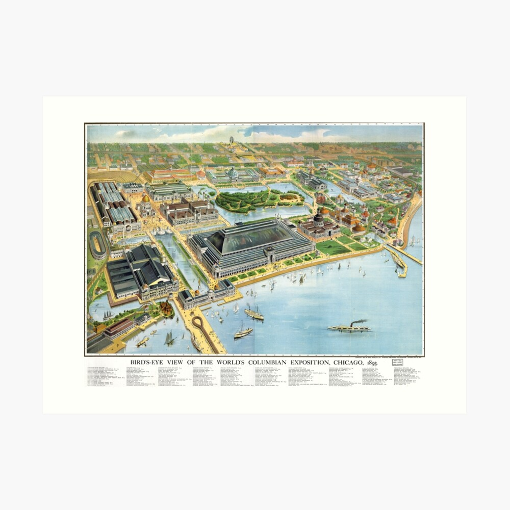 1893 Map of Chicago World's Fair | Art Print Chicago Map Of The World On With It on italy on world map, bangkok on world map, dead sea on world map, amazon river on world map, washington dc on world map, vienna on world map, 1893 chicago world's fair map, cape town world map, chicago on north america map, new york city on world map, moscow on world map, istanbul on world map, england on world map, chicago on the water, london on world map, madrid world map, chicago on state map, chicago on usa map, chicago on map of world, hawaii on world map,