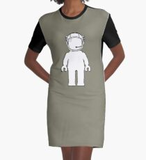 Banksy Style Astronaut Minifigure by Customize My Minifig Graphic T-Shirt Dress