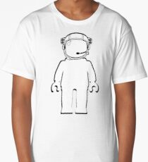 Banksy Style Astronaut Minifigure by Customize My Minifig Long T-Shirt