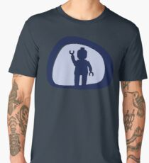 View from a Car Wing Mirror  Men's Premium T-Shirt